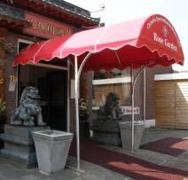 restaurant entre overkapping